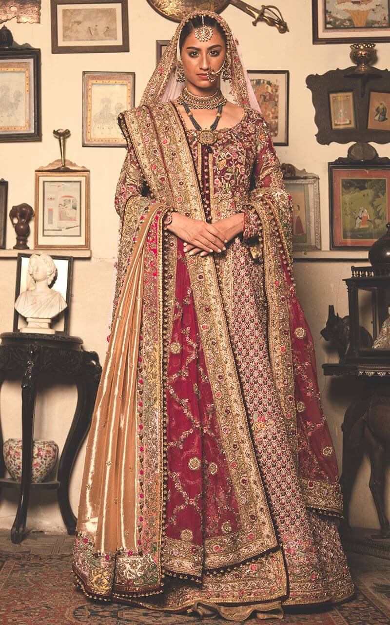 Fahad Hussayn Floor Length Bridal Suit