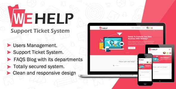WeHelp v3.5 - Ticket Support System PHP Script