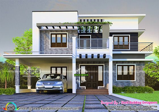 4 bedroom flat roof contemporary home 2697 square feet