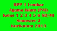 rpp agama islam kelas 1 2 3 4 5 6