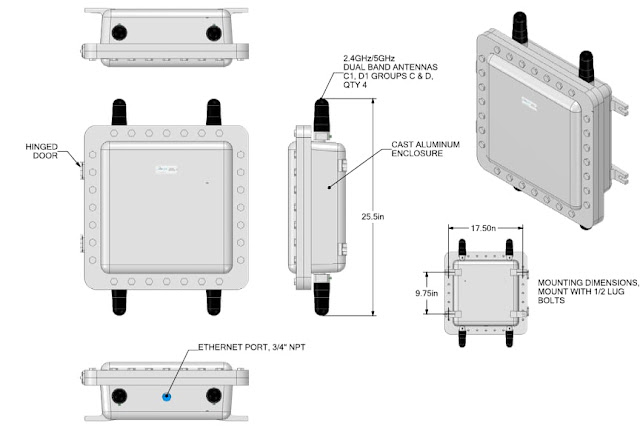 AP414 Explosion Proof Access Point Enclosure