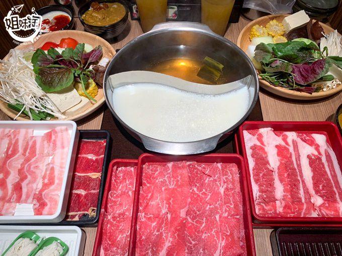 不用五百就能安格斯黑毛牛吃到飽,超過二十種蔬菜也任你吃-涮乃葉