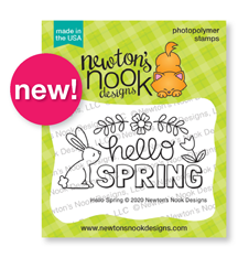 Hello Spring Stamp by Newton's Nook Designs