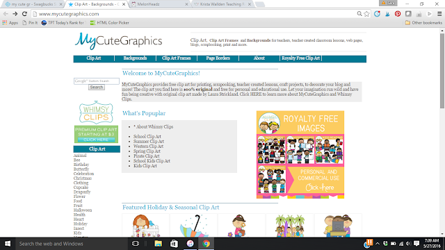 All teachers should know of this site. It is a launching point for all your clip art needs.