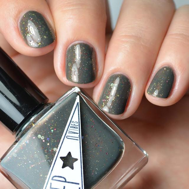 hunter green nail polish with glitter