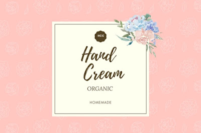 Free Printable Label for Hand Cream