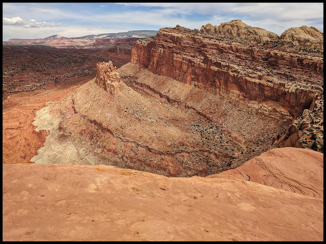 One of the Overlooks on the Rim Trail.  Love the Color Variations of the Rock below.