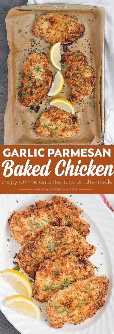 Crispy Garlic Parmesan Baked Chicken - Chicken Recipes