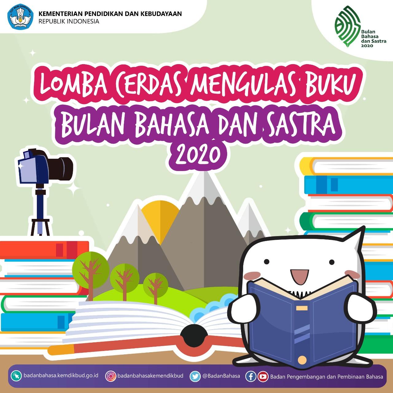 Lomba Cerdas Mengulas Buku untuk Siswa TK PAUD dan SD Kelas Rendah Bulan Bahasa Dan Sastra 2020