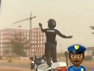 Nigerian Man, Officer AMINU Enjoy Himself as He Show Off His Motorcycle Skills. VIDEO