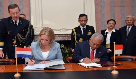 Penandatanganan MoU Kerjasama Pertahanan RI-Belanda