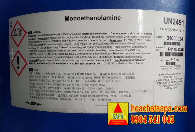 Monoethanolamine | Dung Môi MEA