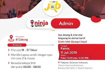 Info Lowongan Kerja Admin Ninja Xpress Jakarta