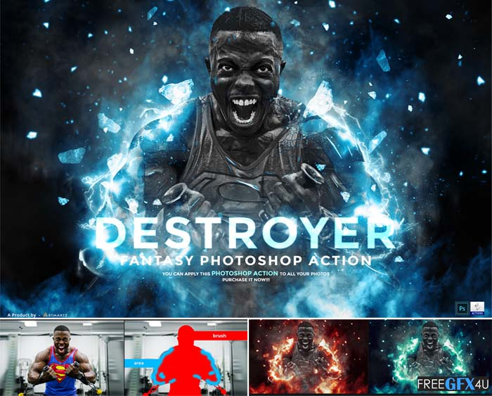 Destroyer Fantasy Photoshop Action