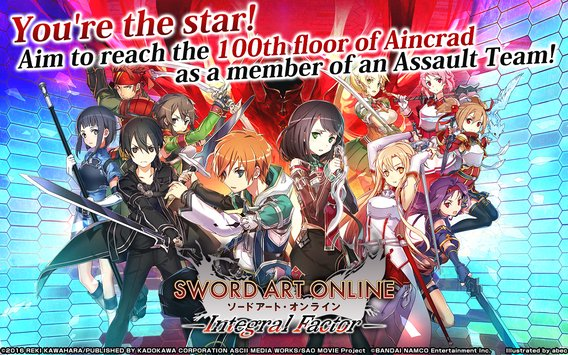Android Sword Art Online Intergral Factor