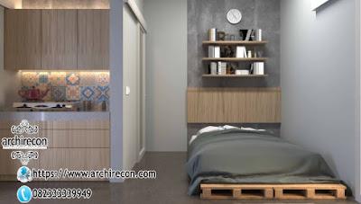 Keunikan Hunian Type 21 Di Lahan 3x12 - Tempat Tidur & Dapur