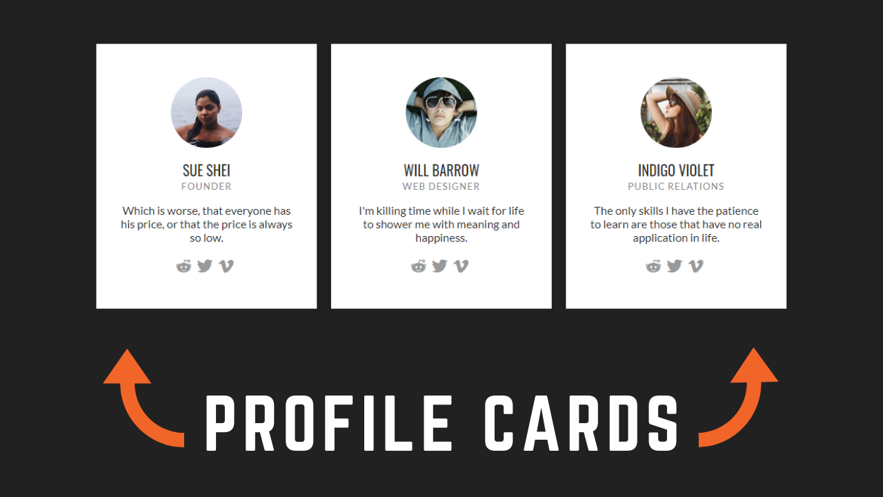 Responsive CSS Cards Using HTML and CSS