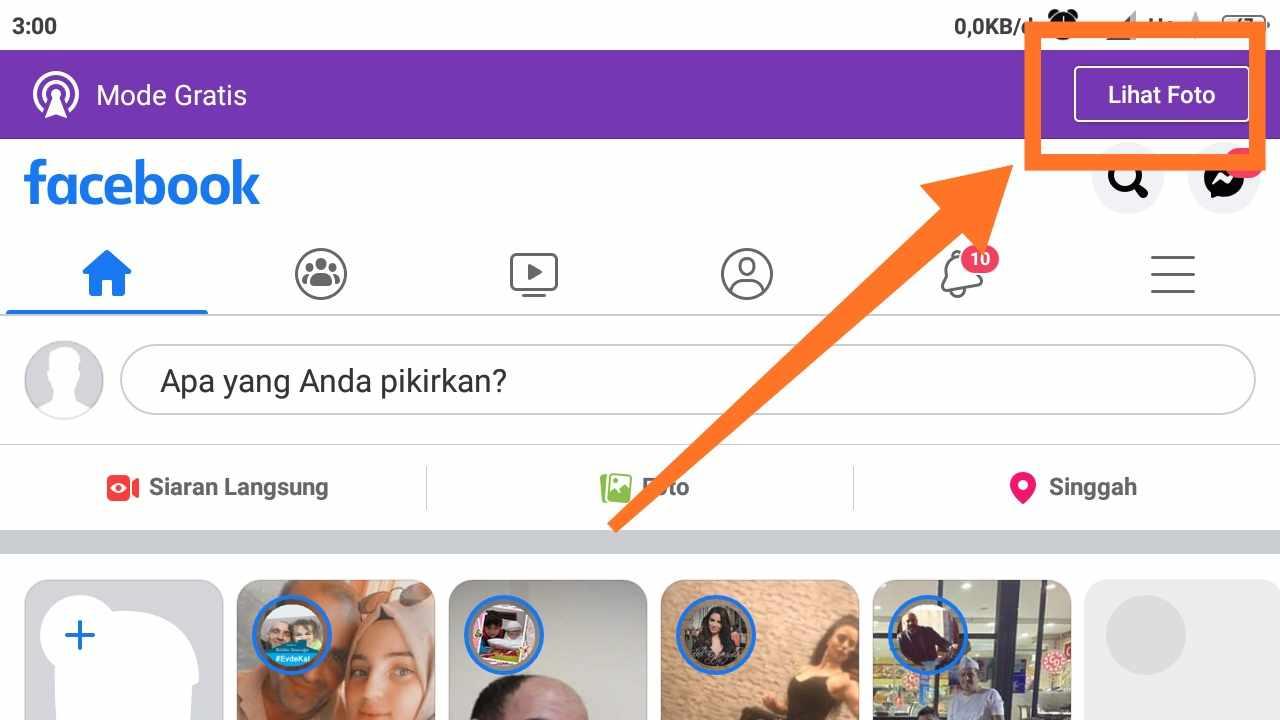 Cara menghilangkan Facebook gratis Indosat