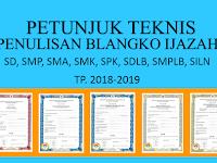 Download Juknis Penulisan Belangko Ijazah SD, SMP, SMA, SMK, SPK, SDLB, SMPLB, SILN Terbaru 2019