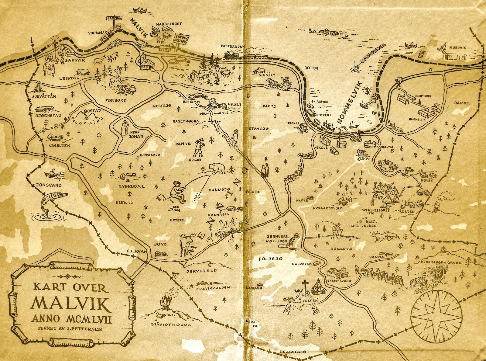 kart over malvik Maler Ivar Pettersen fra Hommelvik: Kart kart over malvik