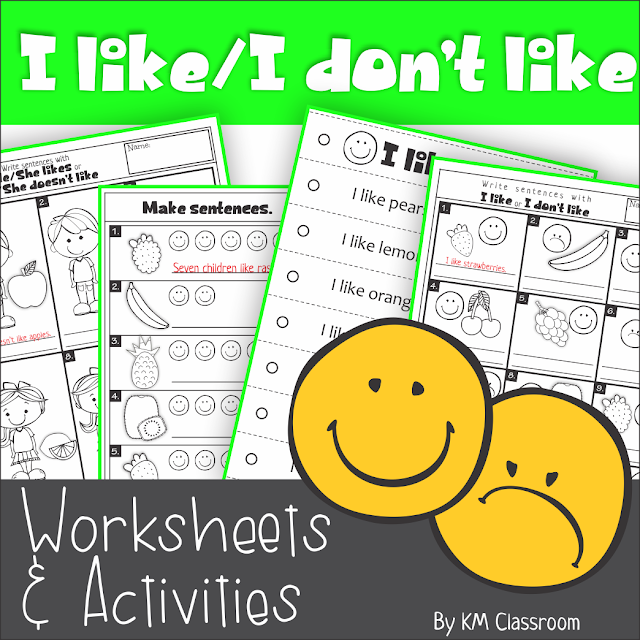https://www.teacherspayteachers.com/Product/I-like-I-Dont-Like-Fruit-Worksheets-and-Activities-2472302