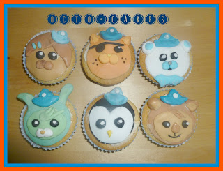 ocutonauts cupcakes,kwazi, dashi, barnacles, tweak, shellington
