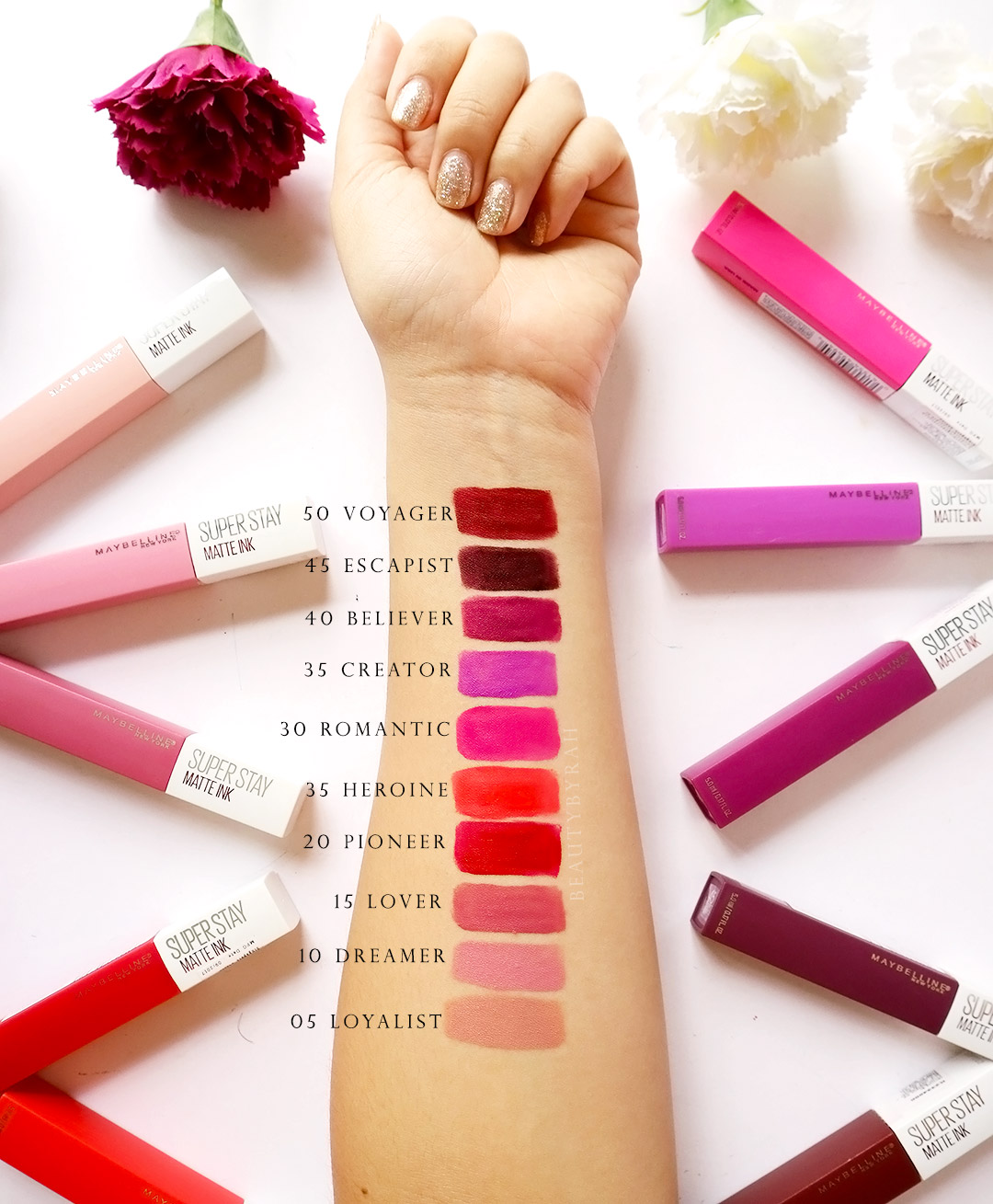 Maybelline SuperStay Matte Ink Swatches