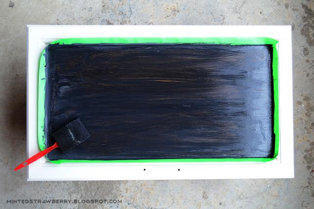 painting cabinet door chalkboard