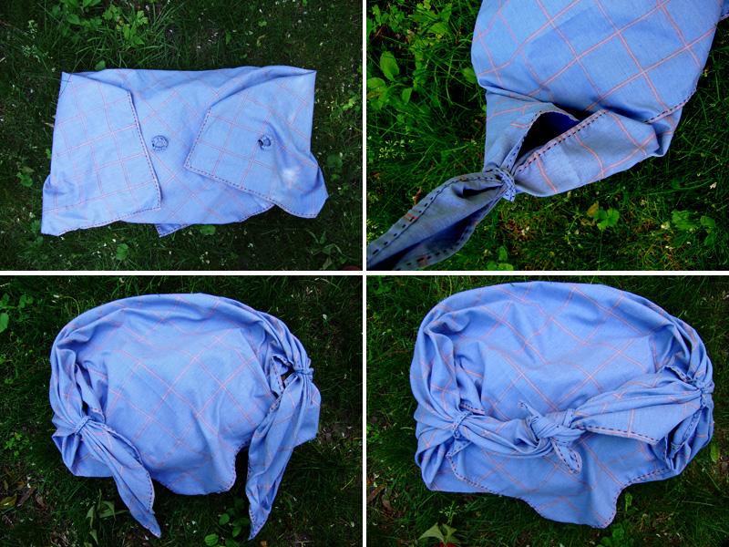 DIY Two Minute Summer Furoshiki Bag