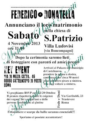 nero PROGETTO: Partecipazione alternativa manifestoProgetti grafici - Nozze
