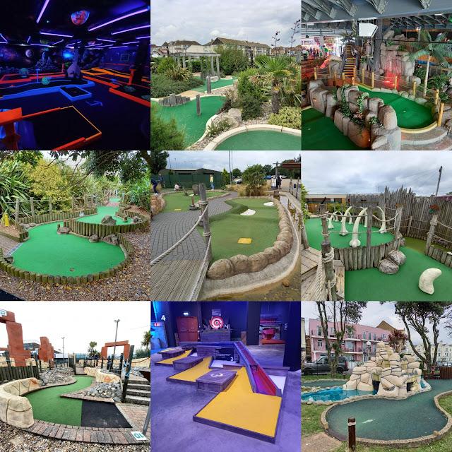 Minigolf courses visited on our Crazy World of Minigolf Tour trip to East Anglia