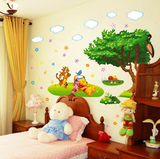 Contoh Ide Desain Kamar Anak Tema Winnie the Pooh 2002