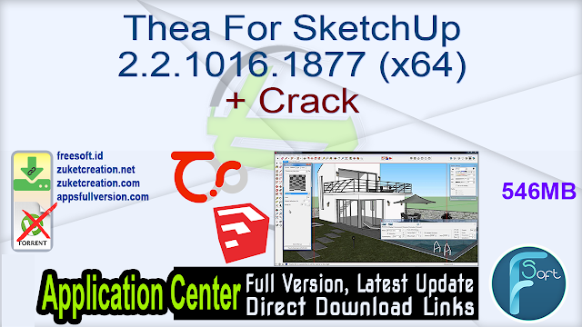 Thea For SketchUp 2.2.1016.1877 (x64) + Crack