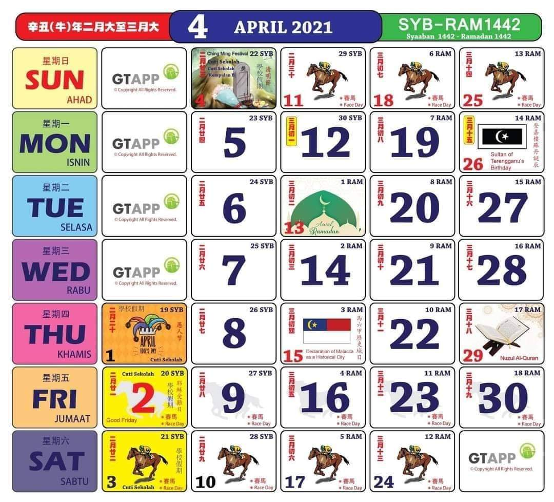 Kalendar dan takwim cuti sekolah 2021 - cikguzim