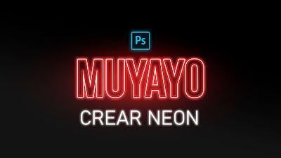 crear neon photoshop
