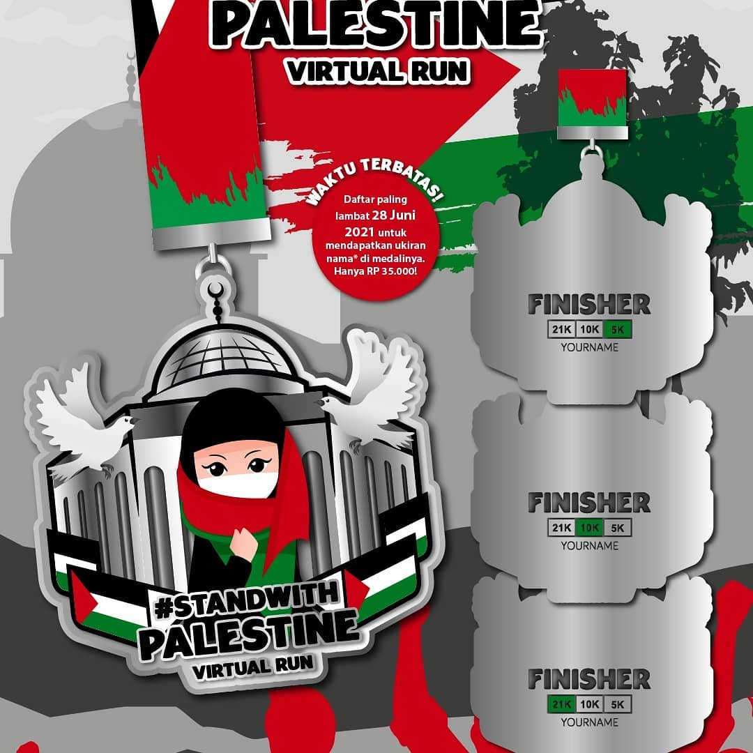 Medali � Stand With Palestine Virtual Run - Indonesia • 2021