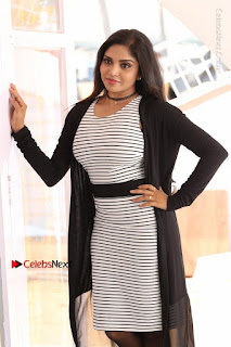 Telugu Actress Karunya Chowdary Stills in Black Dress at Soda Goli Soda Movie Opening  0127.JPG