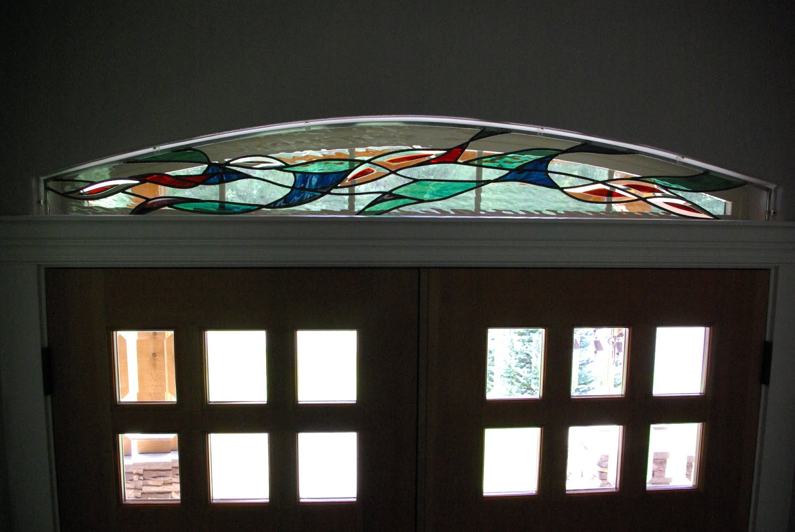 One Of A Kind Stained Glass Windows And Oil Paintings Transom