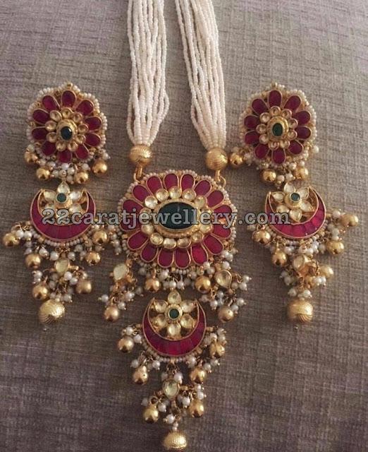Kundan Jadau Pendant Chandbalis