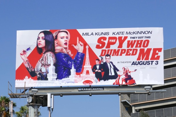 Spy Who Dumped Me movie billboard