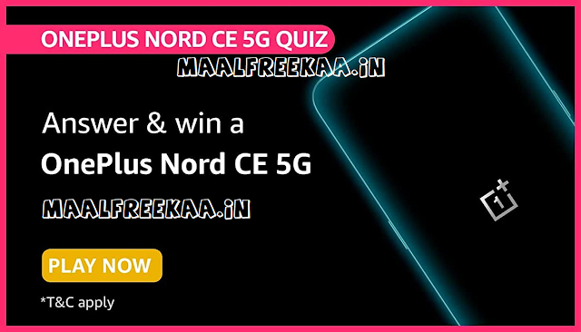 Win OnePlus Nord CE 5G FREE