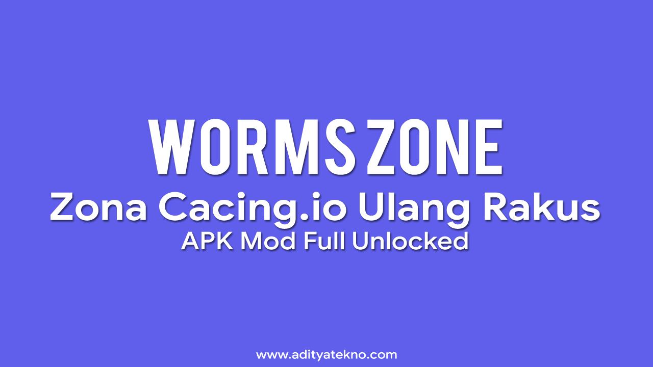 Download Warms Zone io Zona Cacing Mod Apk Full Unlocked Versi Terbaru