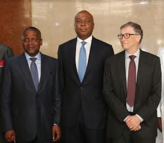Saraki meets Bill Gates, Dangote