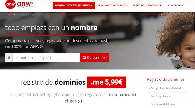 Comprobar dominios libres