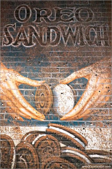 Mural de las Galletas Oreo dentro del Chelsea Market, Nueva York