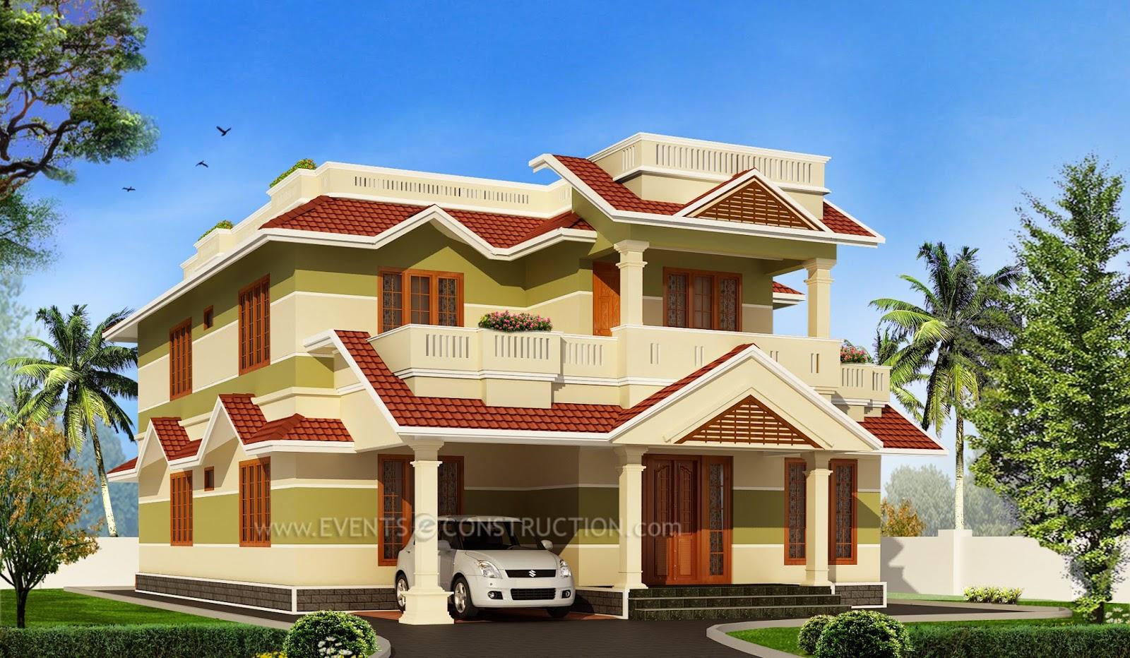 Evens Construction Pvt Ltd Kerala Sloping Roof House