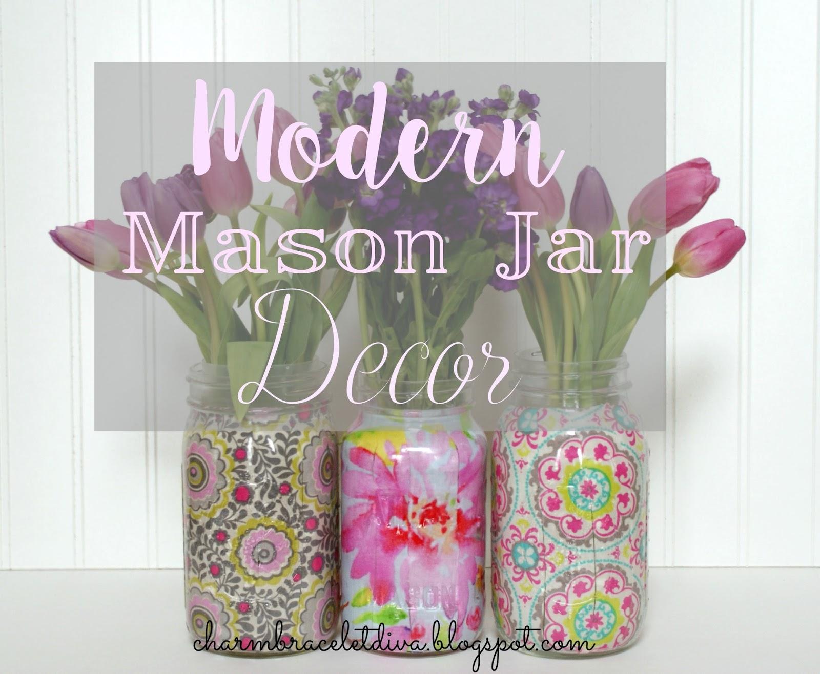 Our hopeful home modern mason jar decor diy modern mason jar vase using fabric and mod podge reviewsmspy