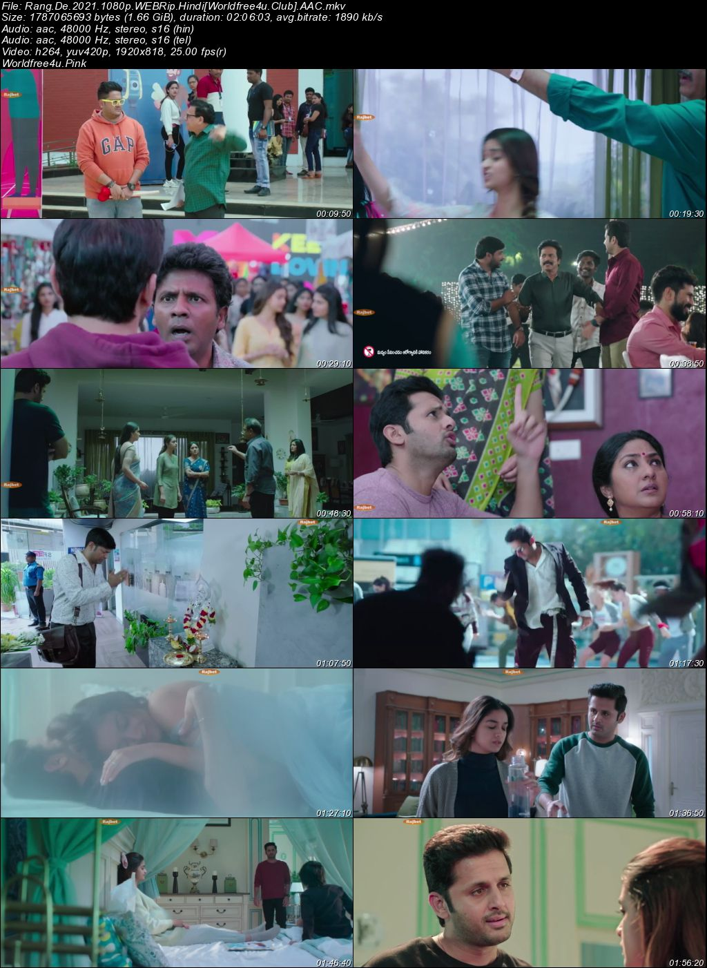 Rang De 2021 Hindi Dubbed Movie Download || HDRip 1080p