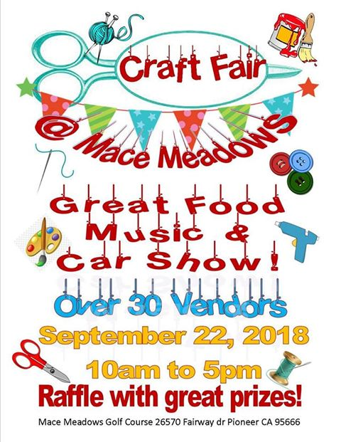 Craft Fair & Car Show - Sat Sept 22