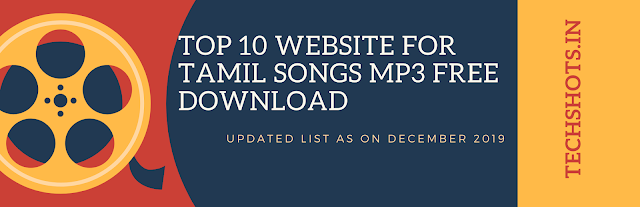 Top 10 Website for Tamil Songs Mp3 Free Download In India